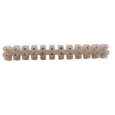 1 x 5A 12-Way Wire Plastic Connector Double Rows Fixed Screw Terminal Blocks