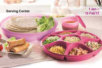 Tupperware Lady Lavender Oceanic Large Serving Centre Pink 380ml With Bowl New