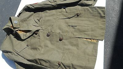 WW1 Tunic Signal Core Disk Arrow Patch Tunic Has Many Moth Nips
