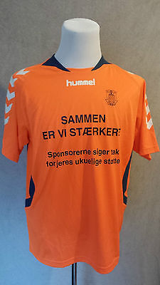 Brondby Football Shirt Hummel Size: L in VERY GOOD Condition