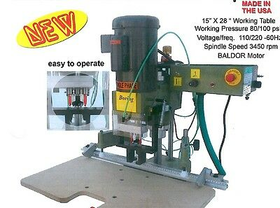 Conquest HINGE BORING MACHINE WITH PNEUMATIC HINGE PRESS