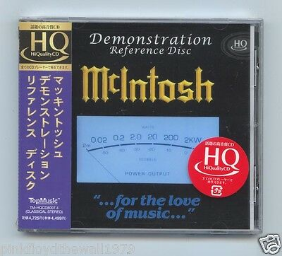 McIntosh Demonstration Reference Disc Made in Japan HQCD Hi-Quality CD Top Music