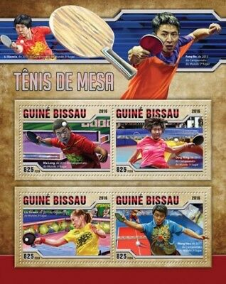 Guinea-Bissau - 2016 Table Tennis - 4 Stamp Sheet - GB16505a