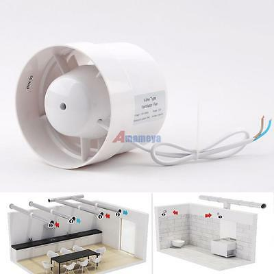 """4"""" Inline Duct Booster Fan Cooling Exhaust Blower Air Cooling Vent Fan ABS TDD#"""