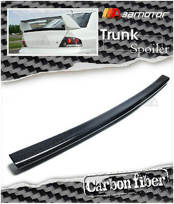 CARBON FIBER REAR TRUNK CENTER SPOILER LIP WING for MITSUBISHI Evolution EVO 8 9