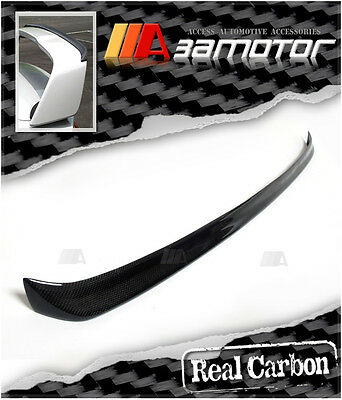 CARBON FIBER TRUNK SPOILER WING REAR GURNEY FLAP for Evolution X EVO 10