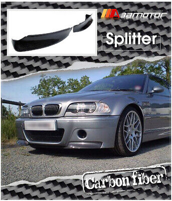 Carbon Fibre Front Spoiler Splitters for BMW E46 M3 Coupe with CSL Bumper only