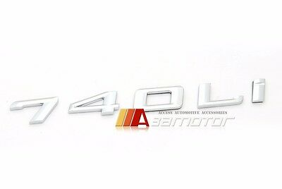 BMW F01 F02 7-Series 740Li 740i Rear Trunk Lid Chrome Emblem Badge Letters