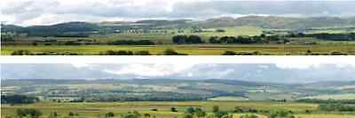 I D Backscenes 208C Photo Backscene 9 inches high, Hills & Dales, 10ft Long OO