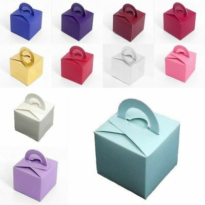 10 Pcs Helium Balloon Wrapping Boxes Weights Wedding Birthday Party Cake Gift