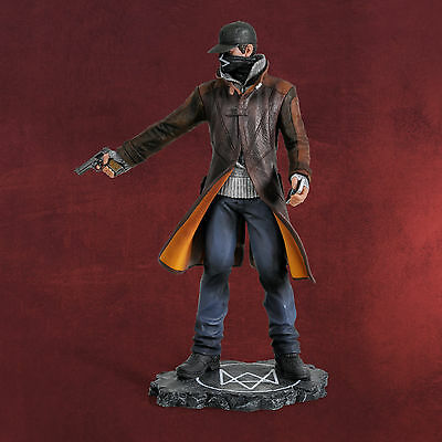 """Collectors Edition Aiden Pearce 9"""" WATCH DOGS STATUE Figurine in Plastic Tray"""