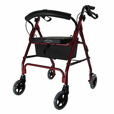 New Lightweight Rollator With Seat 4 Wheel Walker Mobility Walking Frame Zimmer