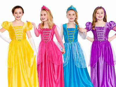Girls Fairytale Princess Costume Book Week Fancy Dress Outfit Ages 3-13