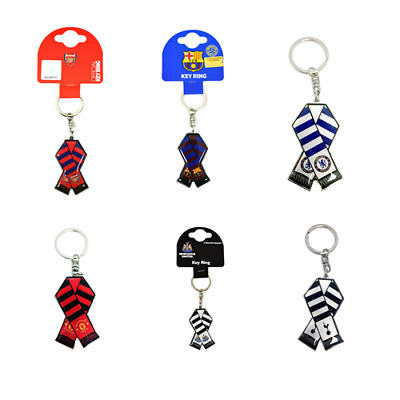 Official Football Club - Bar Scarf Keyring (Metal) (Gift/Xmas/Birthday)