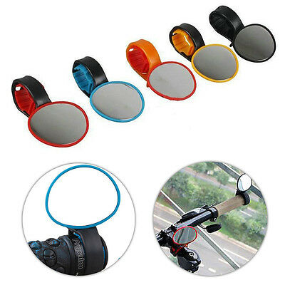 Handlebar Safety Flexible Rearwiew Cycling MTB Road Bike Mirrors 360° Rotate