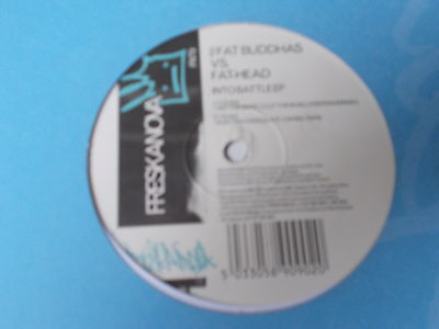 "2 Fat Buddhas vs. Fathead Into Battle EP 12"" Freskanova FNT9 1997"