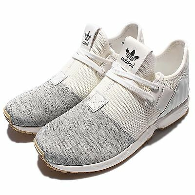 adidas Originals ZX Flux Plus Grey White Mens Running Shoes Sneakers S75930