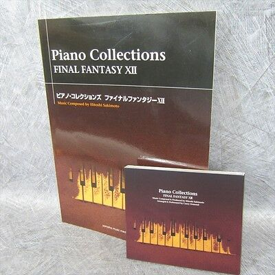 FINAL FANTASY XII 12 PIANO COLLECTIONS Set of SCORE & MUSIC CD Book *