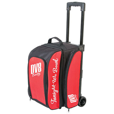 Dv8 Freestyle 2 Ball Roller Bowling Bag With Wheels Red 5