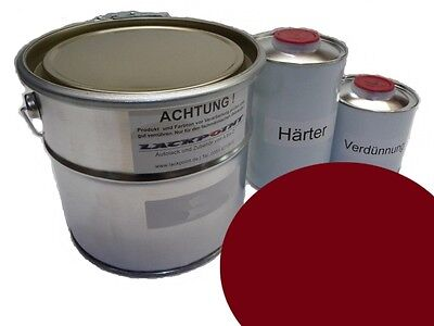 1 Liter Set 2K Car paint GDR Jawa Red Motorcycle IFA Lackpoint no RAL 3004