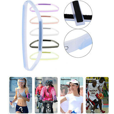 Silicone Sweatband Head Band Headwear Outdoor Sports Yoga Sweat Guiding Belt