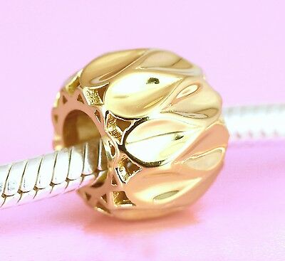 Genuine SOLID 9CT 9K GOLD Beautiful Eternity Bead For Charm Bracelet / Necklace