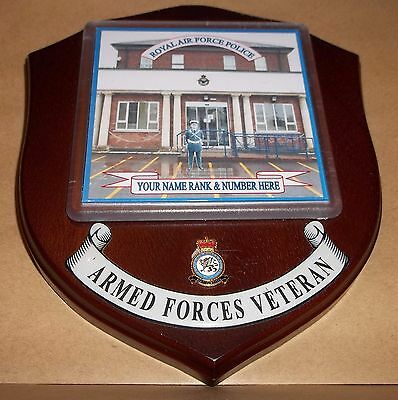 Royal Air force Police Veteran Wall Plaque personalised.