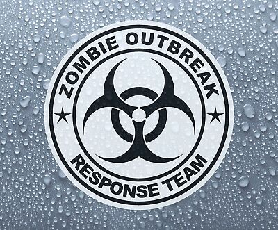 Zombie Outbreak Biohazard printed self-adhesive sticker decal #1 - Large sizes