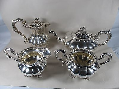 Birks Sterling 4 Piece Teapot Coffee Pot Creamer Sugar Set Fine Quality No Mono