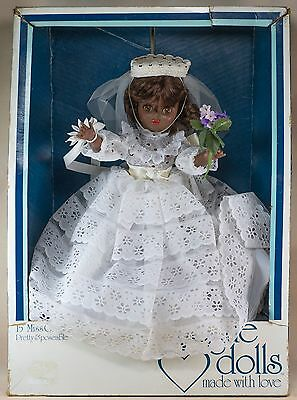 Miss Ginny 15 Inch Black African American Bride Doll in Box Vogue 1977 USA