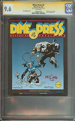 Dime Press #4 Ss Cgc 9.6 1St App Hellboy Signed Mike Mignola Auto