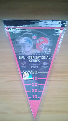 Nfl American Football International Series Wembley 2015 Lions V Chiefs Pennant