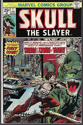 Skull The Slayer #1 Marvel 1975 Origin & 1St Appear Warp To Prehistoric Time Vf-