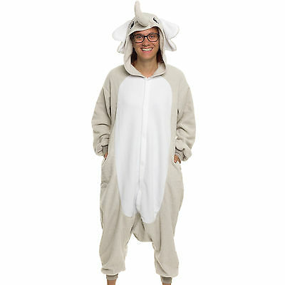 SILVER LILLY Unisex Adult Plush Animal Cosplay Costume Pajamas (Elephant)