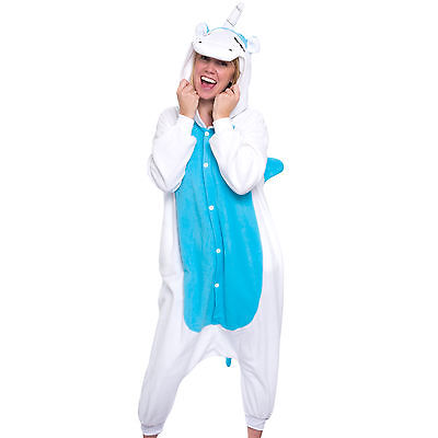 SILVER LILLY Unisex Adult Plush Animal Cosplay Costume Pajamas (Unicorn)