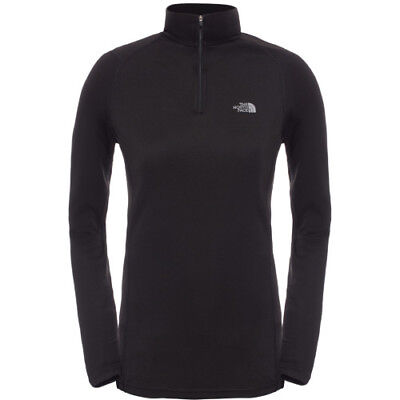 North Face Warm L S Zip Neck Womens Base Layer Top - Tnf Black All Sizes