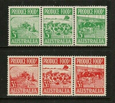 1953 Australia Food Production SG 255/60 Muh Set of 6 in Strips