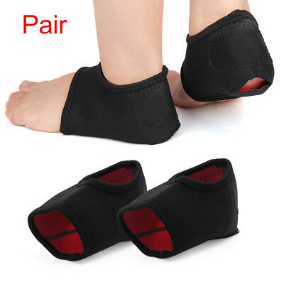 Plantar Fasciitis Therapy Wrap Heel Arch Support Pain Relief Sleeve Cushion Pair