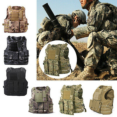 Tactical Vest Military Airsoft Molle Combat Assault Plate Carrier Swat Waistcoat
