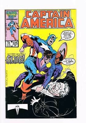 Captain America # 325 Slugfest ! grade 9.0 scarce book !!