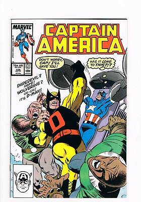 Captain America # 328 The Hardy Way ! grade 9.0 hot book !!