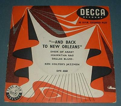 KEN COLYER'S JAZZMEN and back to new orleans 1955 UK DECCA TRI-CENTRE EP