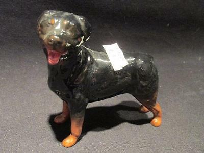 """Beswick Rottweiler Dog Figurine Approx 3 1/4"""" Tall Black with Brown"""