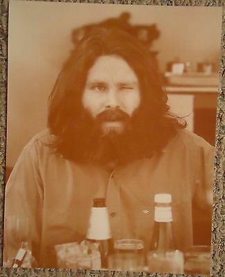 "Jim Morrison from ""The Doors"" Winking Sepia Poster"