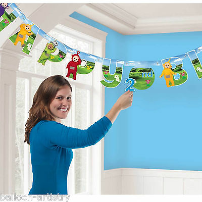 1.7m Adorable Teletubbies Children's Add An Age Birthday Party Letter Banner