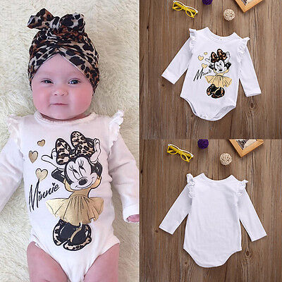Cute Newborn Toddler Baby Girl Cotton Clothes Romper Bodysuit Jumpsuit Outfits