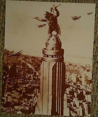 """Scene From """"King Kong"""" 1933 Movie Sepia Poster"""