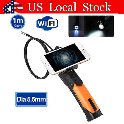 Dia 5.5mm Wifi Wireless Waterproof Endoscope Inspection Camera 60° View Angle