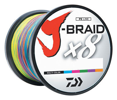 Daiwa J-Braid Fishing Line 40lb x 1500yd Multi Color