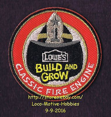 LMH PATCH Badge 2013 CLASSIC FIRE ENGINE Truck Firetruck LOWES Build Grow Kids